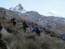 Aufstieg Vallunaraju