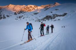 Im Aufstieg auf dem Glacier du Mont Collon