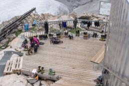 Hüttenleben in den Alpen